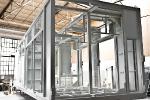 grundierter Industrie-Container innen